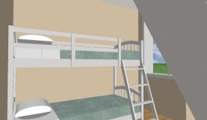 Modèle 3 - Perspective intérieure - Chambre