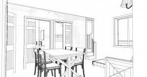 Modèle 3 - Perspective intérieure - Séjour 2