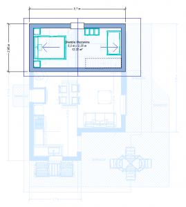 Modèle 3 - Plan Mezzanine - Côté